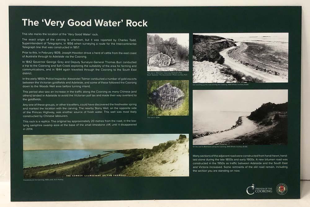 Good Water Rock Sign Coorong - Zesty Shane